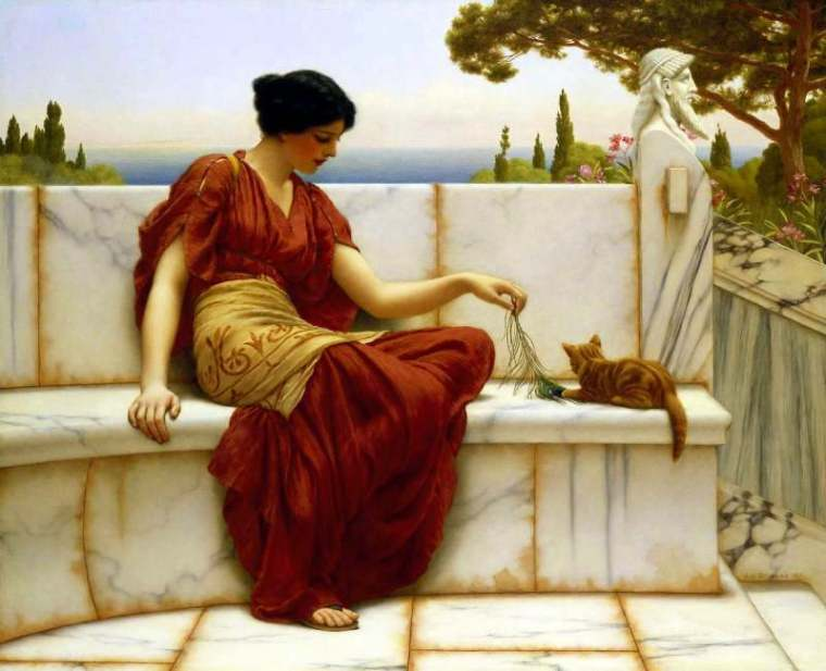 john_william_godward_the-favourite_1901
