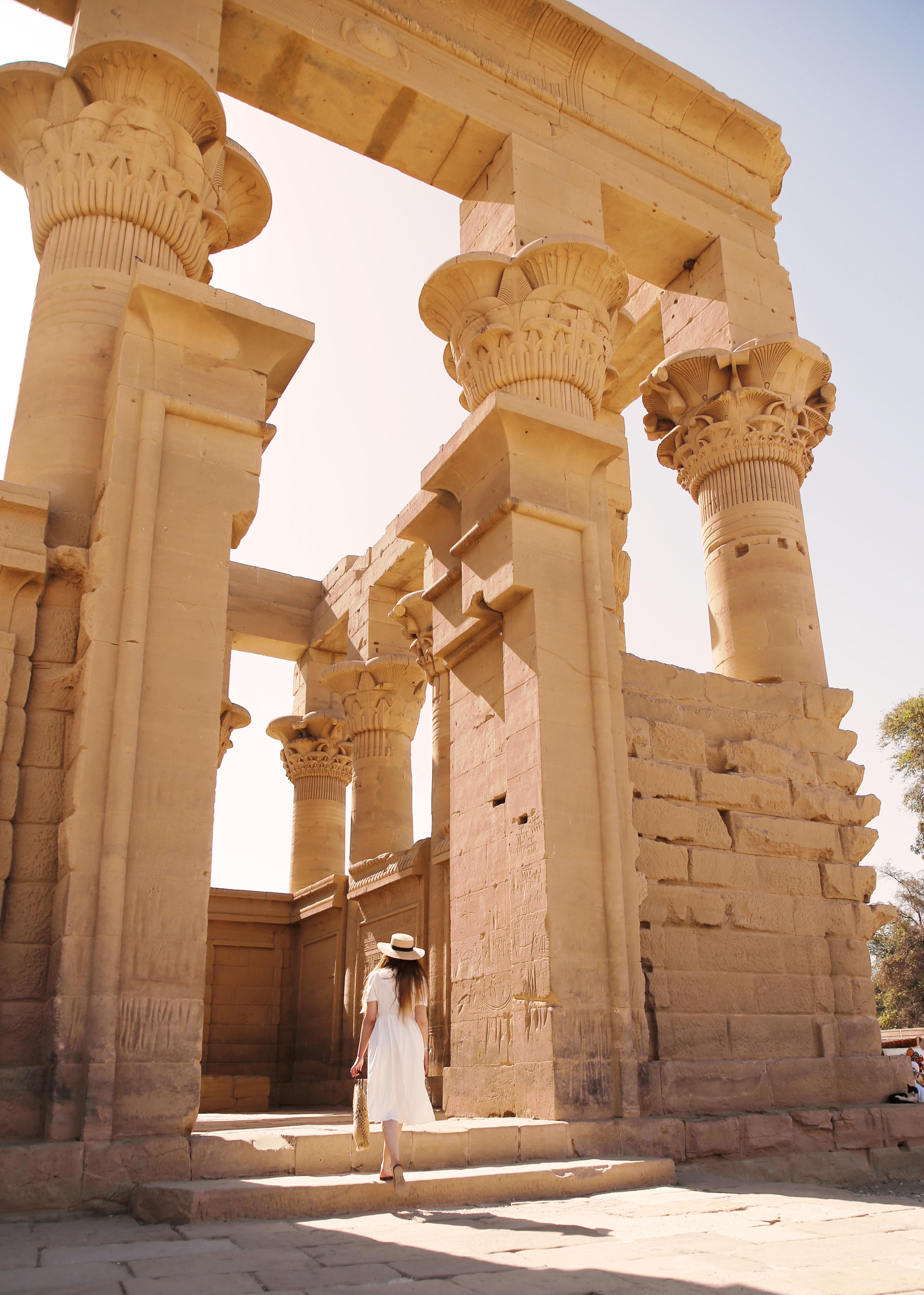 mia und ich blog Trajan Kiosk des Augustus Papyrus Kapitelle Philea Tempel Ägypten Egypt