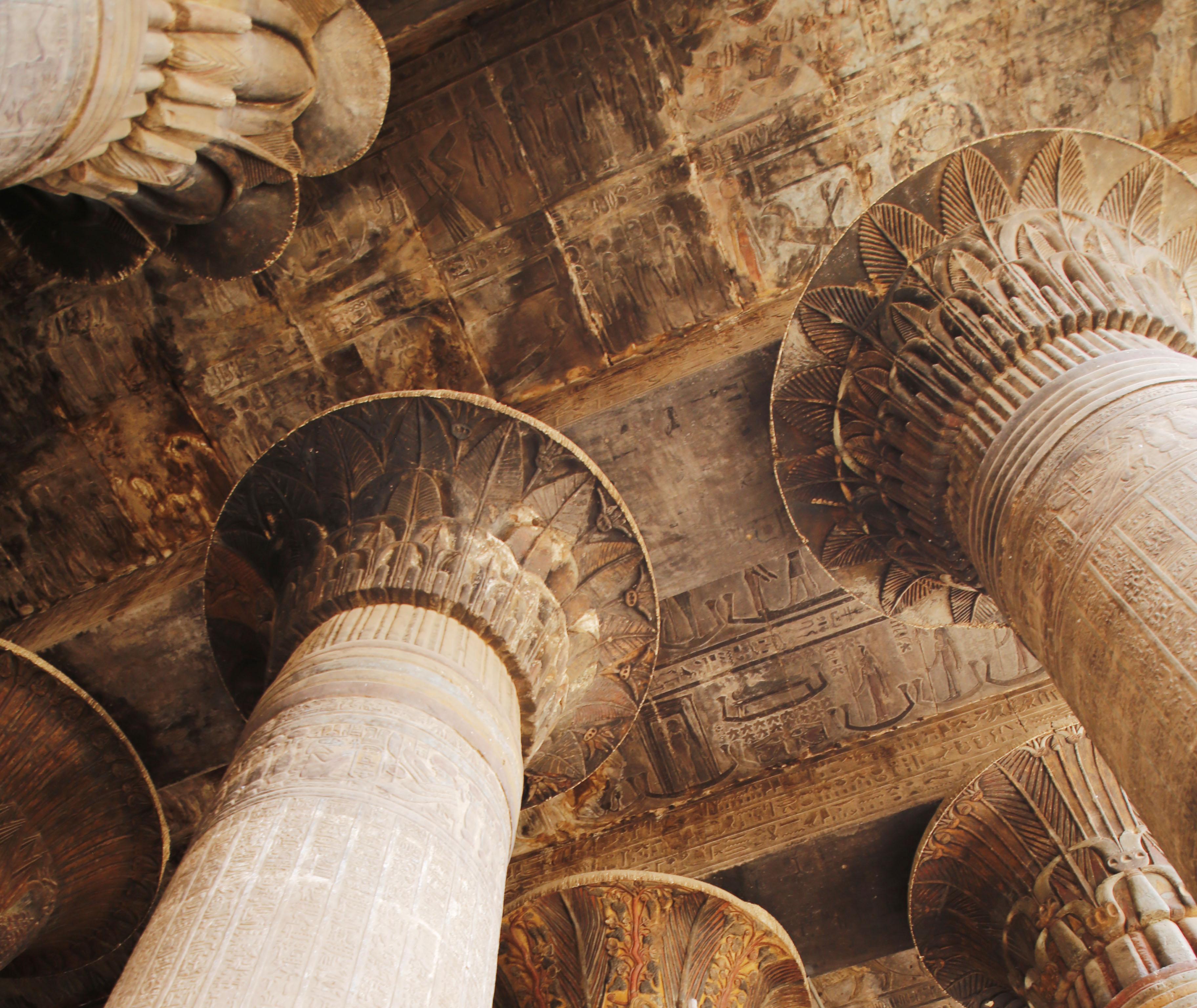 mia und ich blog Esna Chum Säulen Kapitelle Tempel  Ägypten Egypt