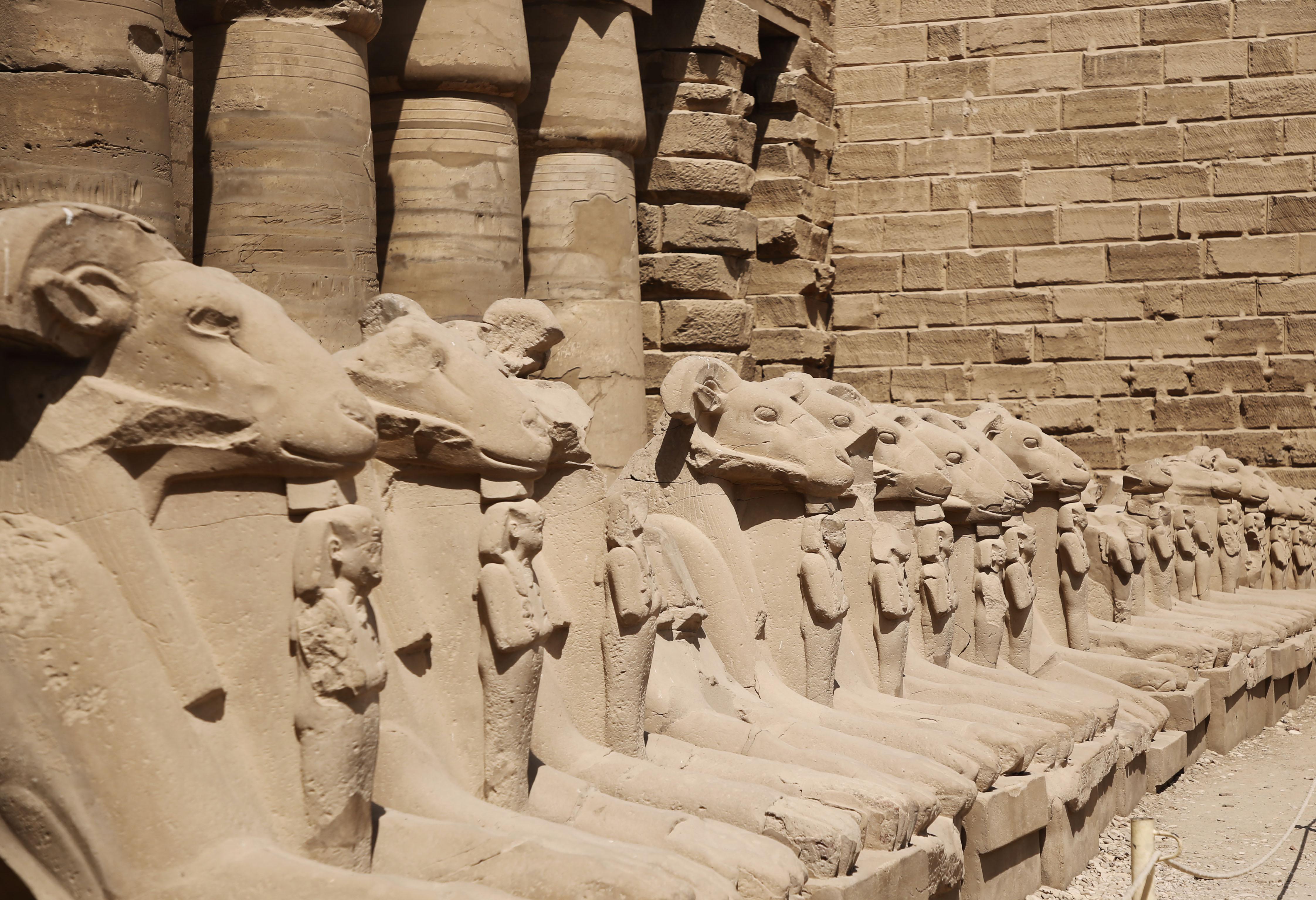 mia und ich blog Widder Statuen Amun Tempel  Ägypten Egypt Karnak