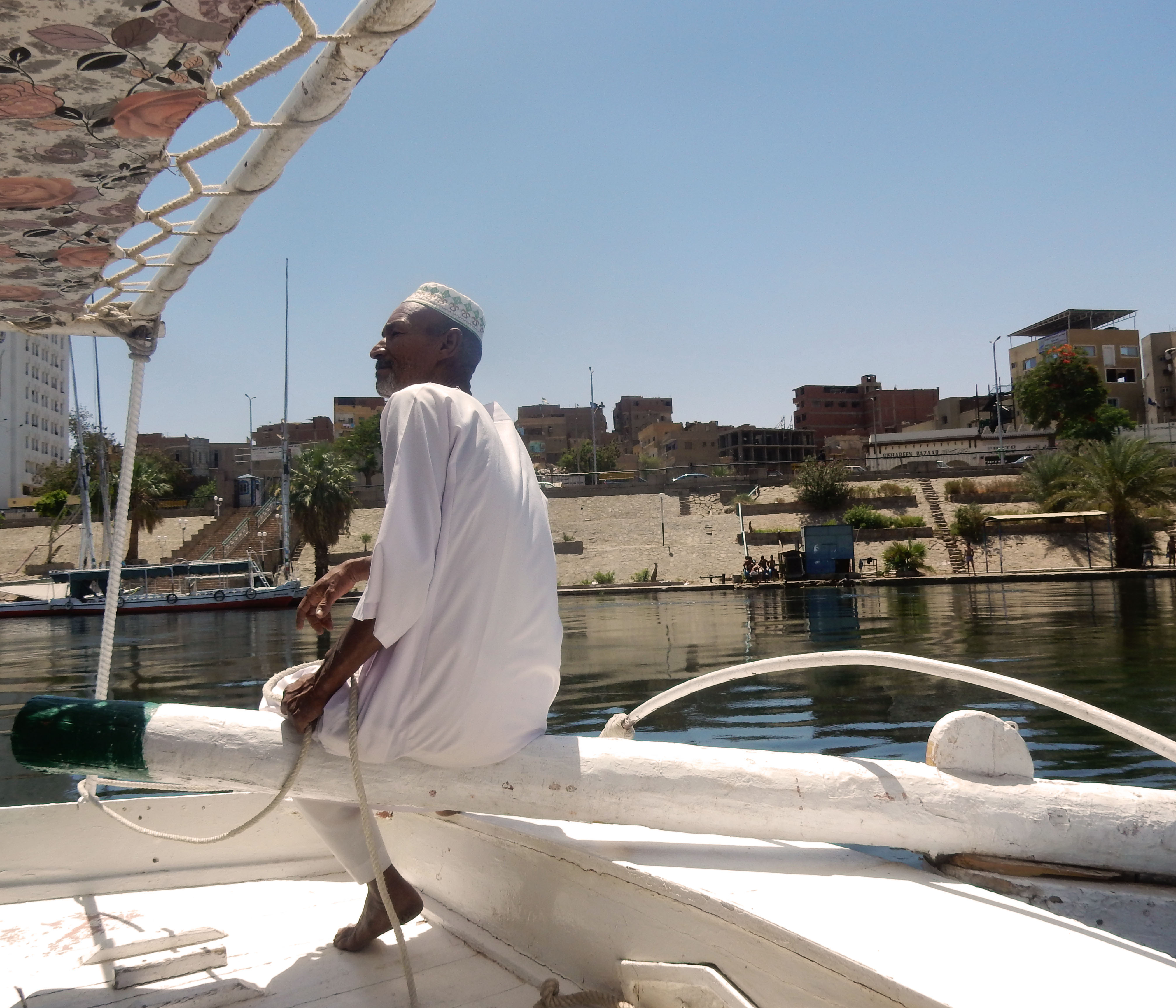 mia und ich blog Nil Feluke Schiff Segelschiff Assuan Ägypten Egypt
